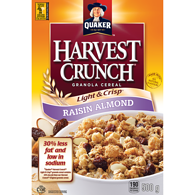 Harvest Crunch Cereal, Light & Crisp - Raisin & Almond