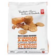 Mini Scallop Crackers, Cheddar & Bacon