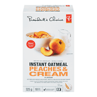 Instant Oatmeal, Peaches & Cream