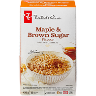 Maple & Brown Sugar Flavour Instant Oatmeal