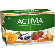 Lactose Free Strawberry/Blueberry/Peach/Mango 2.9% M.F. Probiotic Yogurt,12x100g