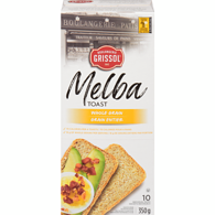 Melba Toast, Whole Wheat