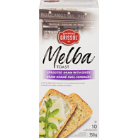 Melba Toast, Sprouted Grains