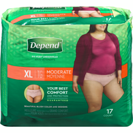 Underwear For Women, Moderate Absorbency XL