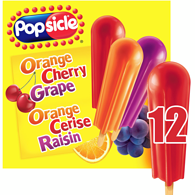 Popsicles, Orange Cherry & Grape Ice Pops