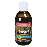 Crystal Clean From The Sea, Omega-3, Grapefruit
