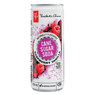 Cane Sugar Soda, Raspberry Vanilla