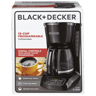 Digital Coffee Maker, 12 Cup Black