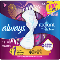 Serviettes Radiant avec ailes Flexi-Wings