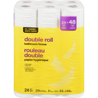 Bath Tissue, Double Rolls