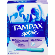 Tampons Pearl Active, Légers