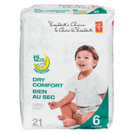 Diapers, Dry Comfort 12 Hour Protection, Size 6