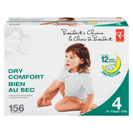 Diapers, Dry Comfort 12 Hour Protection, Size 4
