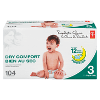 Diapers, Dry Comfort, Size 3