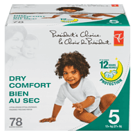 Baby Diapers, Dry Comfort, Size 5