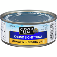 Chunk Light Tuna, Yellowfin in Broth & Oil
