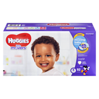 Little Movers Diapers, Club Pack Size 6