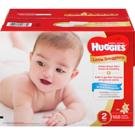 Little Snugglers Diapers, Club Pack Size 2