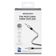 Flat AUX Cable, Silver