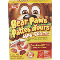 Bear Paws Mini Fruit Cherry Bars