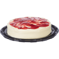 Raspberry and Cream Cheese Single Layer Cake