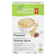 Instant Oatmeal with Flaxseed