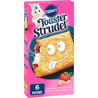 Toaster Strudel, Strawberry and Cream Cheese Spread