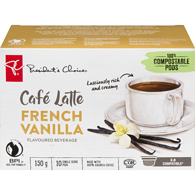 Cafe Latte French Vanilla, Single Serve Pods