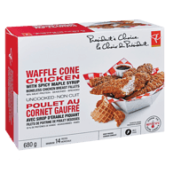 Waffle Cone Chicken with Spicy Maple Syrup Boneless Chicken Breast Fillets