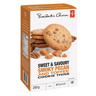 Sweet & Savoury Smoky Pecan And Toffee Cookie Thins