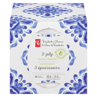Facial Tissue with Lotion, 3 Ply