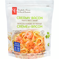 Creamy Bacon Pacific White Shrimp With A Rich And Creamy Bacon Sauce