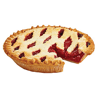 Half Lattice Pie, Strawberry Rhubarb