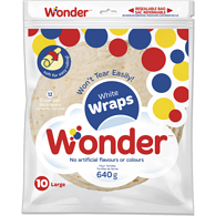 Wraps, White Original 10