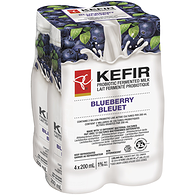 Kefir, Probiotic Fermented Milk 1% M.F., Blueberry