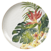 Assiette plate, tropical