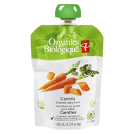 Strained Baby Food, Carrots, 6+ Months