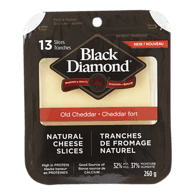 Natural Cheese Slices, Old White