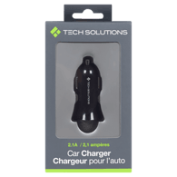 USB Car Charger, Black