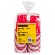 Plastic Club Size 100 Party Cups