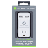 Adapter with 2 Ports, White