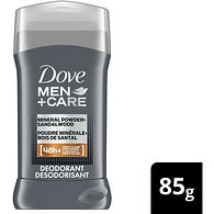 Men + Care Elements Deodorant Stick, Mineral Powder & Sandalwood