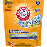 Oxi Clean 3 in 1 Power Paks Concentrated Laundry Detergent 24 Paks