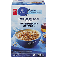 Blue Menu Instant Oatmeal, Maple & Brown Sugar