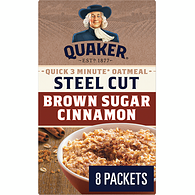 Instant Oatmeal, Quick Cook Steel Cut - Brown Sugar Cinnamon