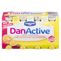 DanActive Orange Drinkable Probiotic Yogurt 1.5% M.F. 8 x