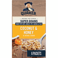 Instant Oatmeal, Super Grains - Coconut & Honey