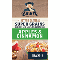 Instant Oatmeal, Super Grains - Apples & Cinnamon
