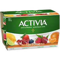 Lactose Free Lemon-Lime/Pomegranate-Berry/Raspberry-Lychee/Mandarin-Orange 2.9% M.F. Probiotic Yogurt,12x100g