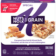Special K Cereal Bars, Sea Salt Caramel & Mixed Nuts